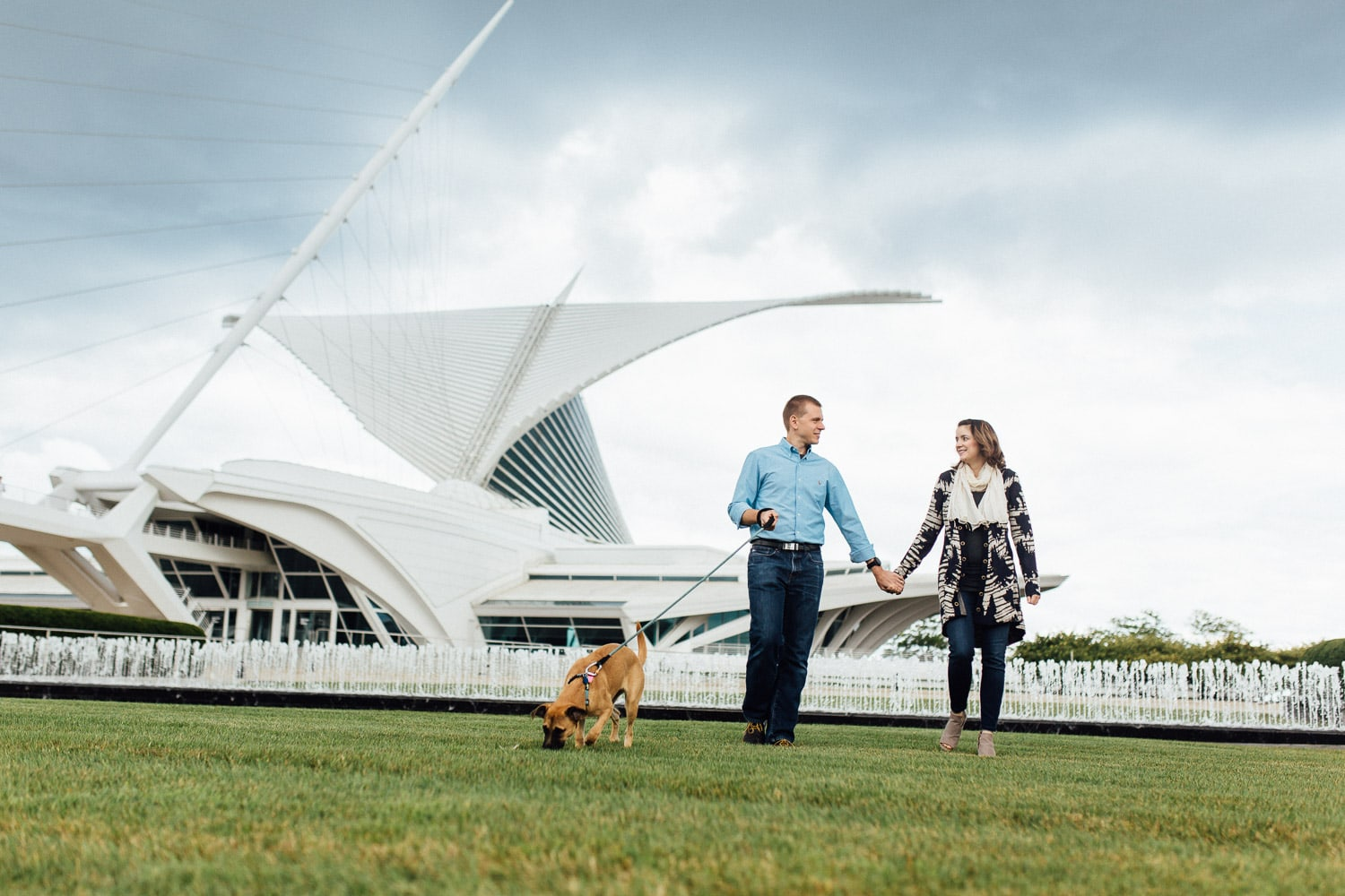Family Session - Baby Announcements - Milwaukee Art Museum - Milwaukee, Wi - Double You Photography - Kat Wegrzyniak