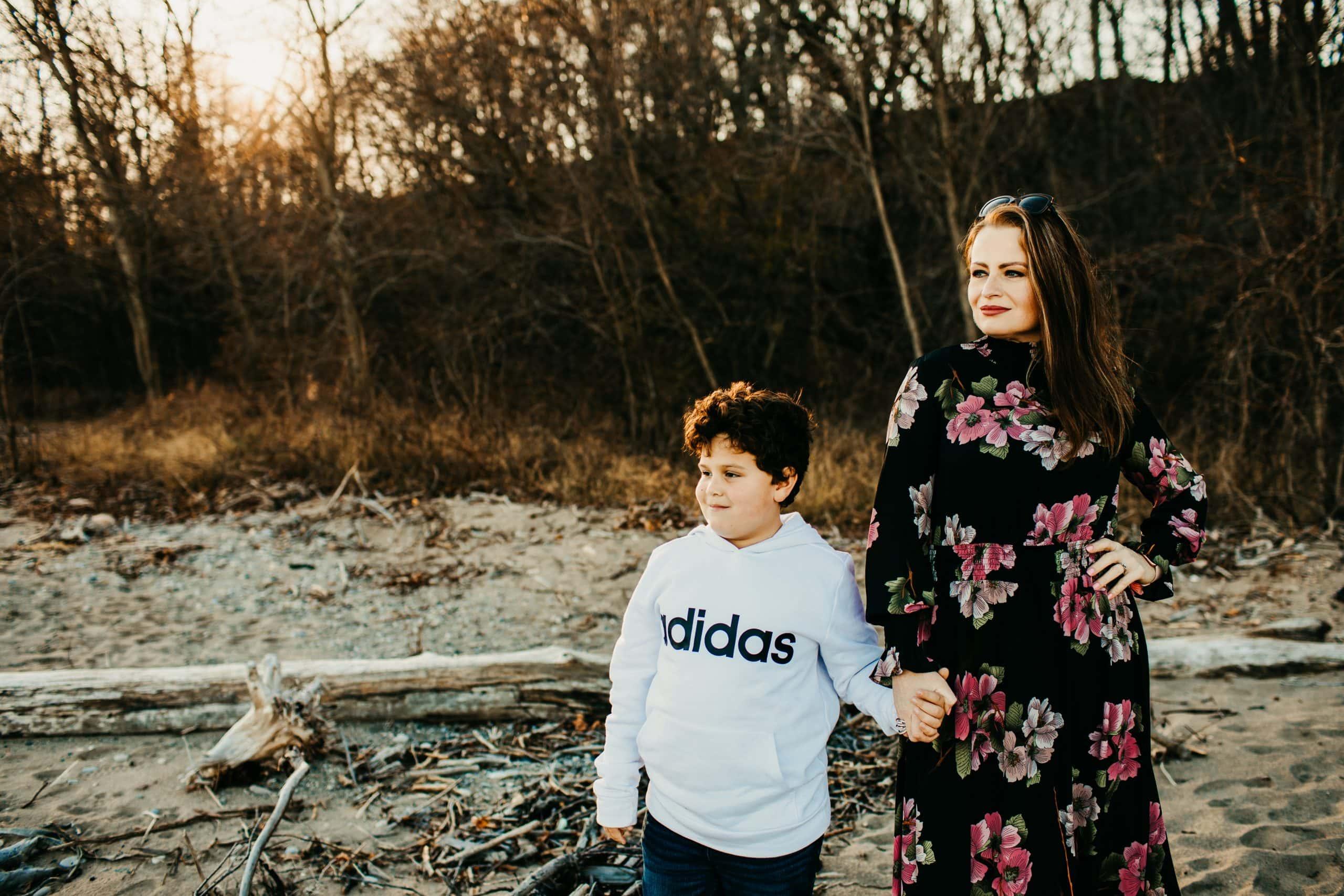 Milwaukee family photographer-fall beach session-Photography- Kat Wegrzyniak-Double You Photography